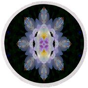 Baroque Fantasy Flowers Ornate Round Beach Towel