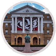 Bascom Hall - Madison - Wisconsin Round Beach Towel