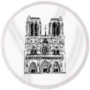 Basilica Notre Dame Round Beach Towel