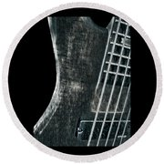 Bass Guitar Musician Player Metal Rock Round Beach Towel