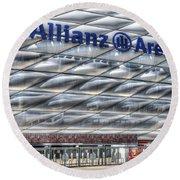 Allianz Arena Bayern Munich  Round Beach Towel