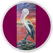 Bayou Pelican / Modern Ibis Round Beach Towel