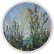 Bays Of The River Round Beach Towel