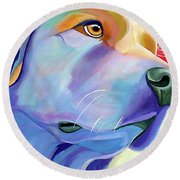 Be Golden Round Beach Towel