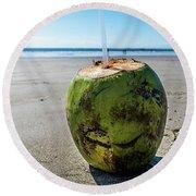 Beach Coconut Round Beach Towel