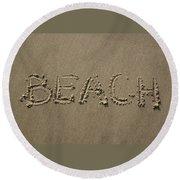Beach Written Text  Round Beach Towel
