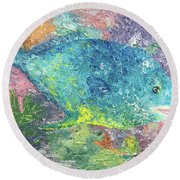 Beauty Of The Reef Round Beach Towel