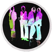 Beatles Watercolor II Round Beach Towel
