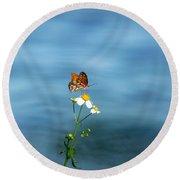 Beautiful Butterfly  Round Beach Towel