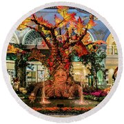 Bellagio Conservatory Enchanted Talking Tree Ultra Wide 2018 2.5 To 1 Aspect Ratio Round Beach Towel
