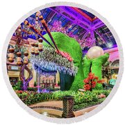 Bellagio Conservatory Spring Display Front Side View Wide 2018 2 To 1 Aspect Ratio Round Beach Towel