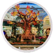 Bellagio Enchanted Talking Tree Ultra Wide 2018 2 To 1 Aspect Ratio Round Beach Towel