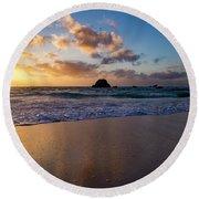 Bermuda Beach Sunrise Round Beach Towel