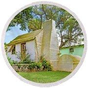Bermuda Botanical Gardens Cottage Round Beach Towel