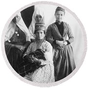 Bethlehem Women In 1886 Round Beach Towel