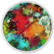 Between The Rivers Round Beach Towel