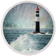 Beyond The Northern Waves Round Beach Towel