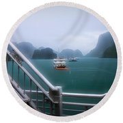 Bhaya Cruise Line Ha Long Bay  Round Beach Towel