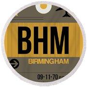 Bhm Birmingham Luggage Tag I Round Beach Towel