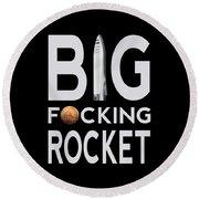 Big Fucking Rocket Bfr Round Beach Towel