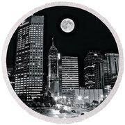 Big Moon Indianapolis 2019 Round Beach Towel