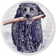 Bill Out Of The Blue Round Beach Towel