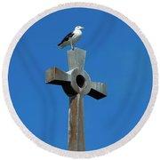 Bird Of Pray Round Beach Towel