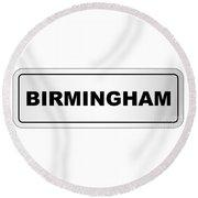 Birmingham City Nameplate Round Beach Towel