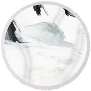 Black And White #2 Round Beach Towel by Maria Langgle