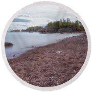 Black Beach Park Round Beach Towel by Susan Rissi Tregoning