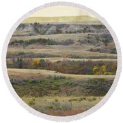 Black Butte September Reverie Round Beach Towel