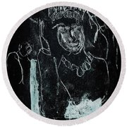 Black Ivory Issue 1b9a Round Beach Towel