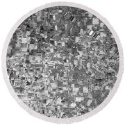 Black Outed Round Beach Towel