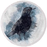 Blackbird Grunge Edition Round Beach Towel
