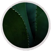 Blades Of Agave Round Beach Towel