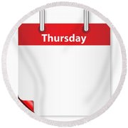 Blank Thursday Date Round Beach Towel