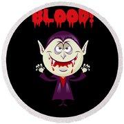 Blood Bloody Vampire Halloween Round Beach Towel
