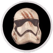 Bloody Helmet Round Beach Towel