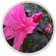 Bloom And Bud Round Beach Towel