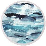Blue #10 Round Beach Towel
