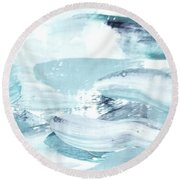 Blue #15 Round Beach Towel