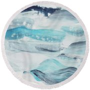 Blue #7 Round Beach Towel