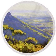 Blue Mountains Australia Round Beach Towel