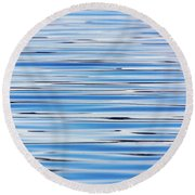 Blue Water Abstract 8621 Round Beach Towel