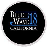 Blue Wave California Vote Democrat 2018 Round Beach Towel