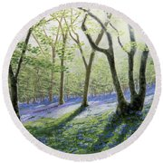 Bluebell Wood Round Beach Towel