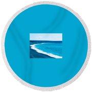 Blues Round Beach Towel