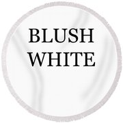 Blush White Wine Costume Round Beach Towel