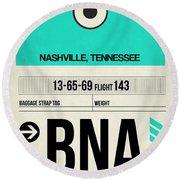 Bna Nashville Luggage Tag II Round Beach Towel
