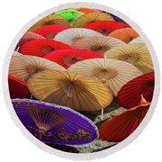 Bo Sang Umbrellas, Thailand Round Beach Towel
